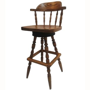 Classic Eagle Bar Stool with Wood Seat